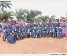 The Primary 6 Graduands with the staff